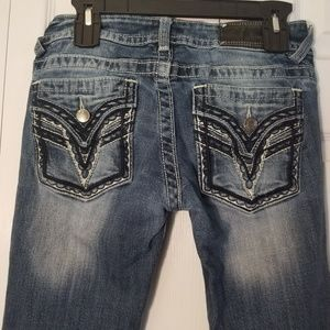 Vigoss 27x33 The Dallas Bootcut Jeans Embroidered